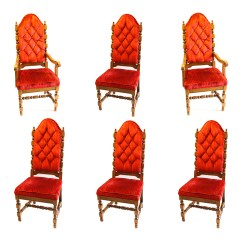 Red Tufted Dining Chair Office Jiji Set Of Velvet Upholstered Chairs Ebth