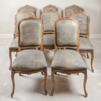 Contemporary Provincial Louis XV Style Upholstered Dining ...
