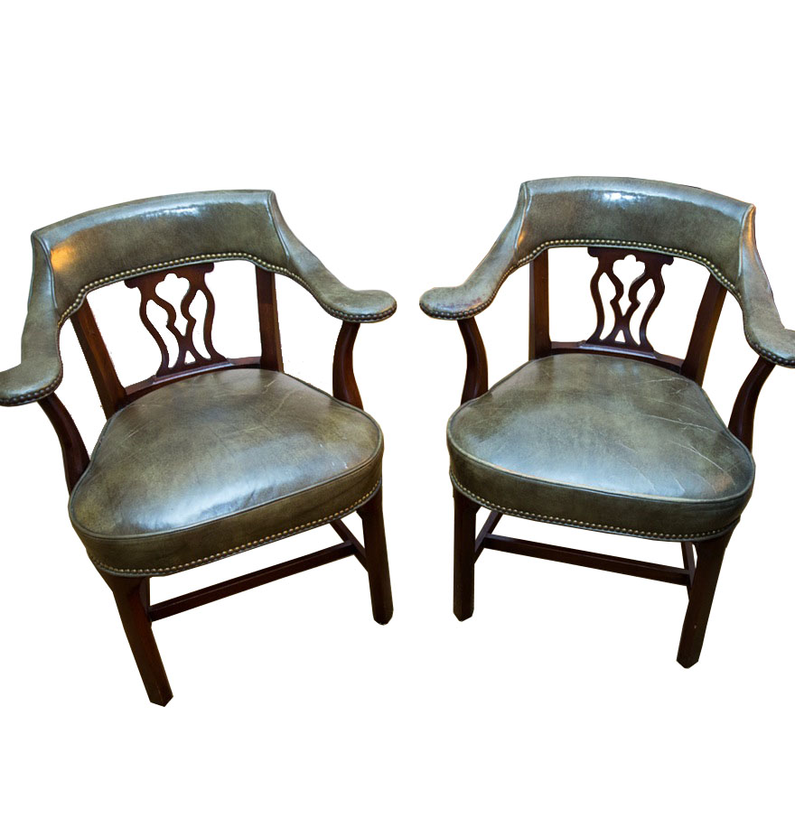 Vintage Library Armchairs by Hickory Chair Company  EBTH