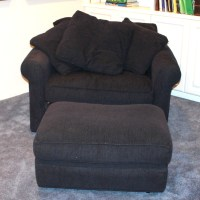 Contemporary Chair-and-a-Half With Ottoman : EBTH