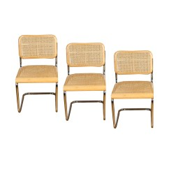 Dining Chairs With Caning Rattan Rocking Chair Cesca Caned Cantilever After Marcel Breuer Ebth