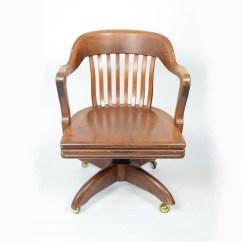 Wh Gunlocke Chair Open Air Repair Vintage Walnut Banker S By W H Ebth