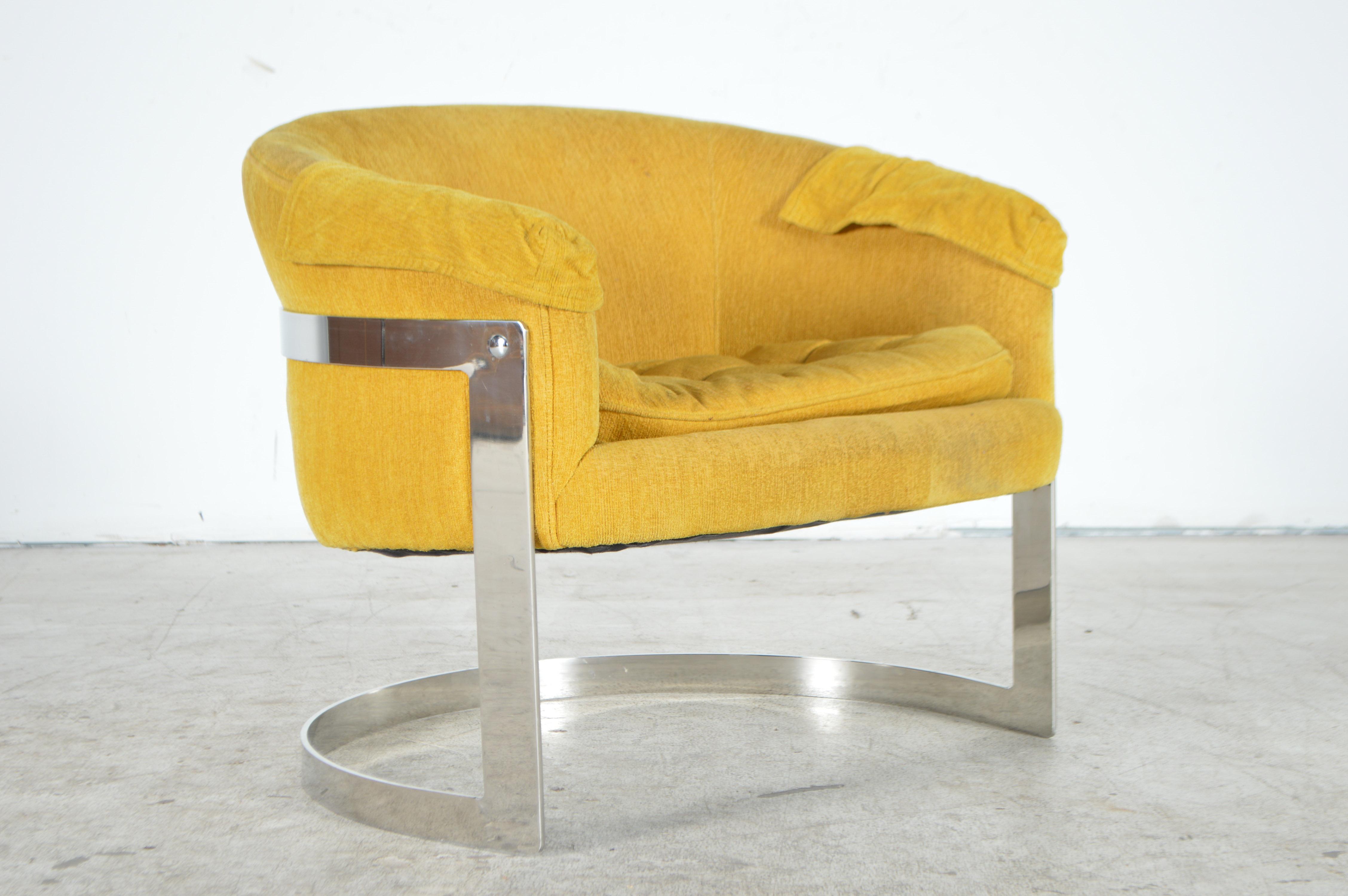 yellow club chair star wars bean bag mid century modern chairs ebth
