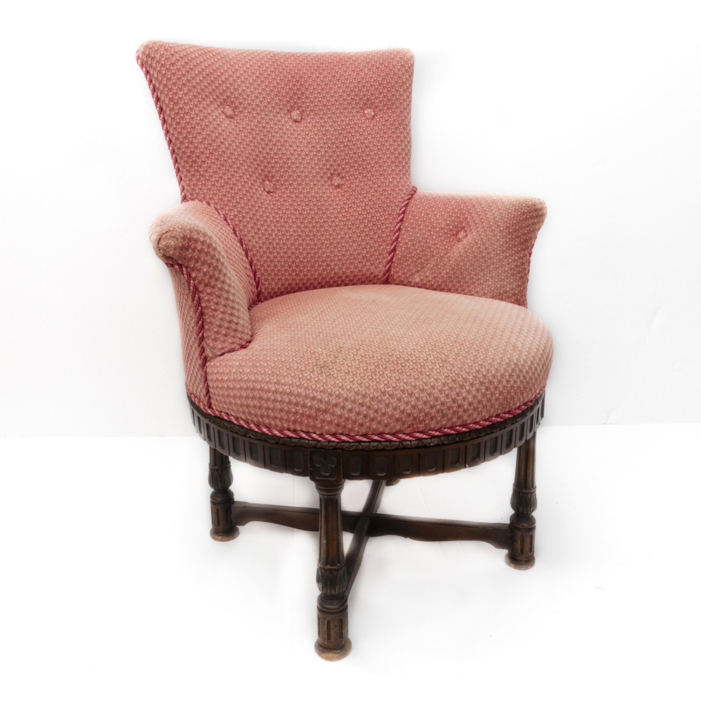 pink swivel chair oxo tot sprout antique ebth