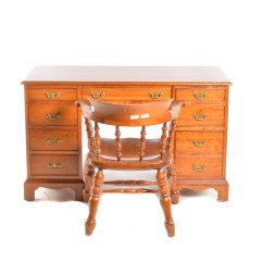 Stickley Leopold Chair For Sale Tell City Chairs Mahogany 27 Vintage 1962 Cherry Writing Desk With Ebth