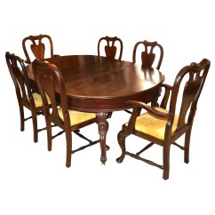 Chippendale Dining Chair Bean Bag Chairs For Girls Antique Mahogany Table And Eight Ebth