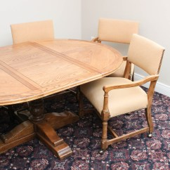 Round Oak Table And Chairs Ergonomic Chair No Wheels Chatham Oaks By Drexel Ebth