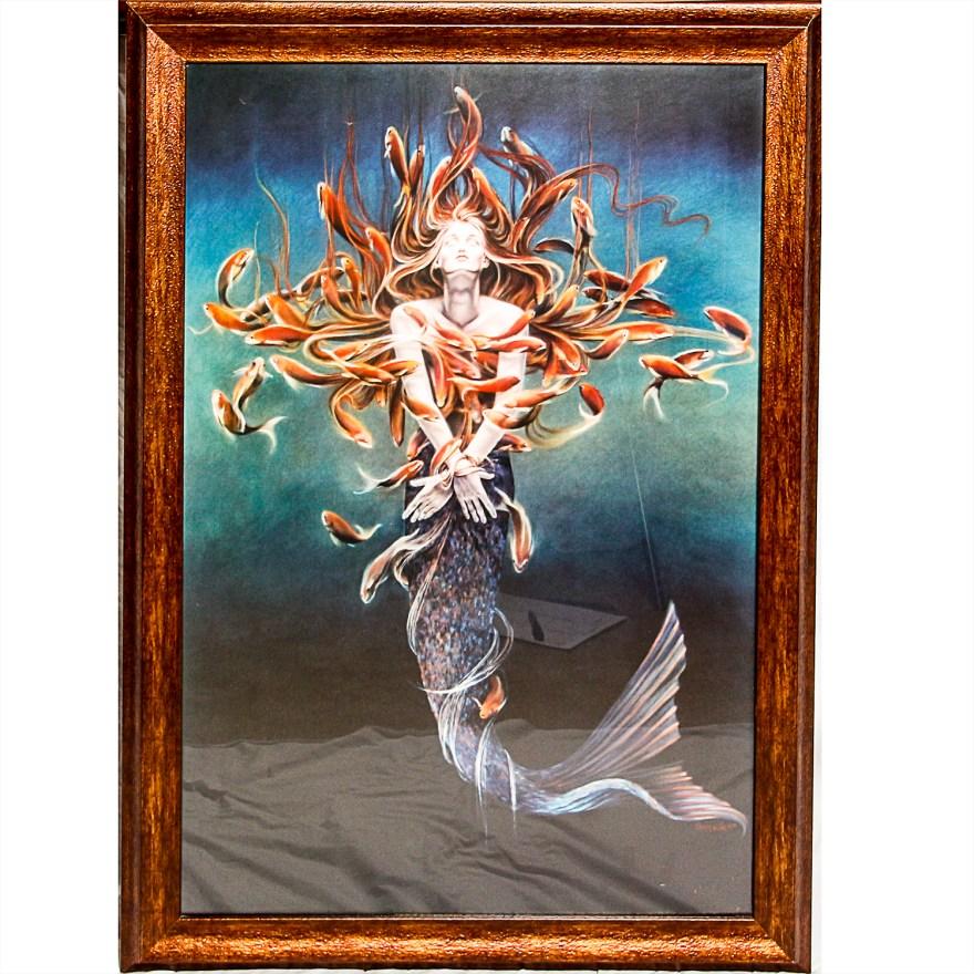 Large Framed Print Of Mermaid Sheila Wolk Ebth