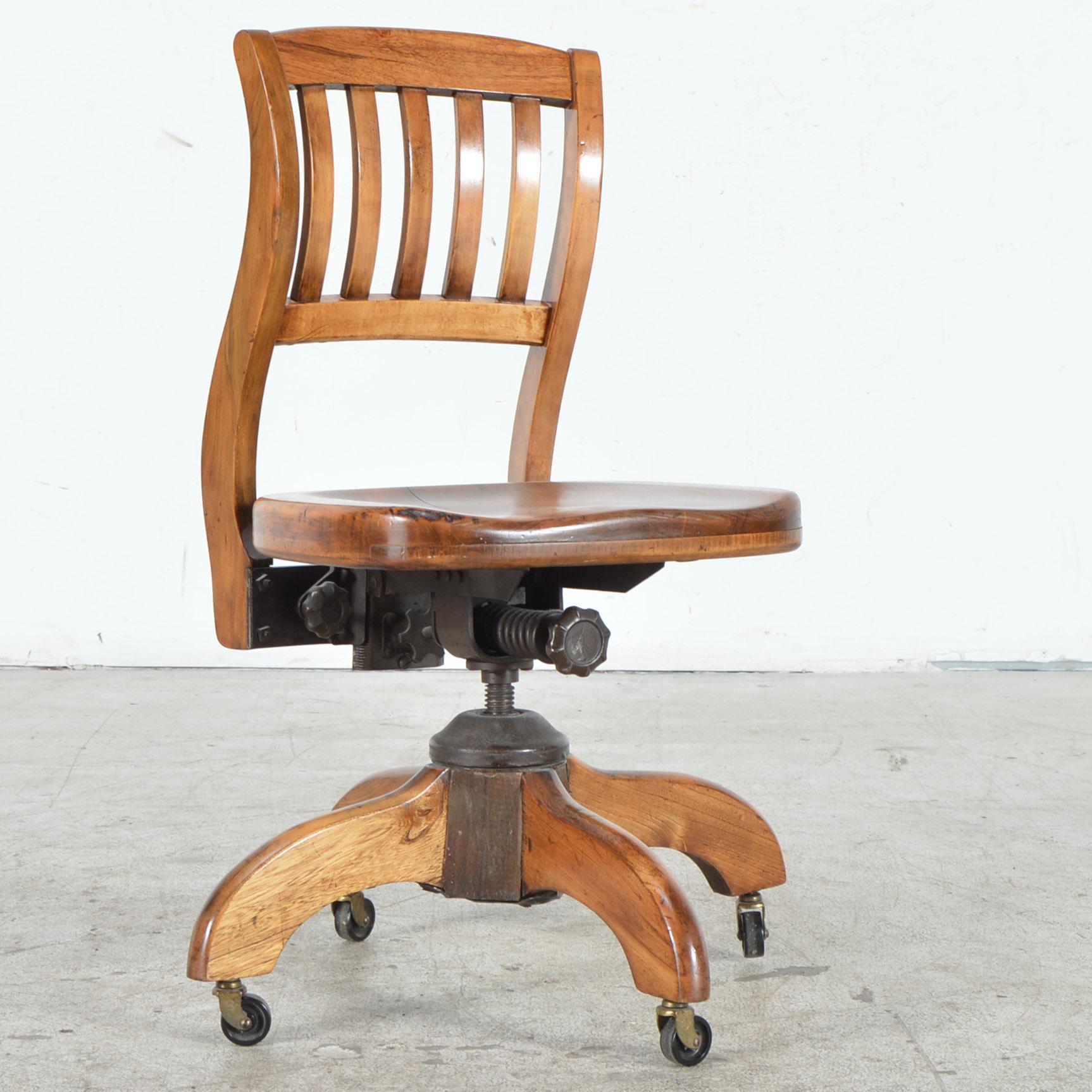 murphy chair company cross back dining vintage oak office ebth