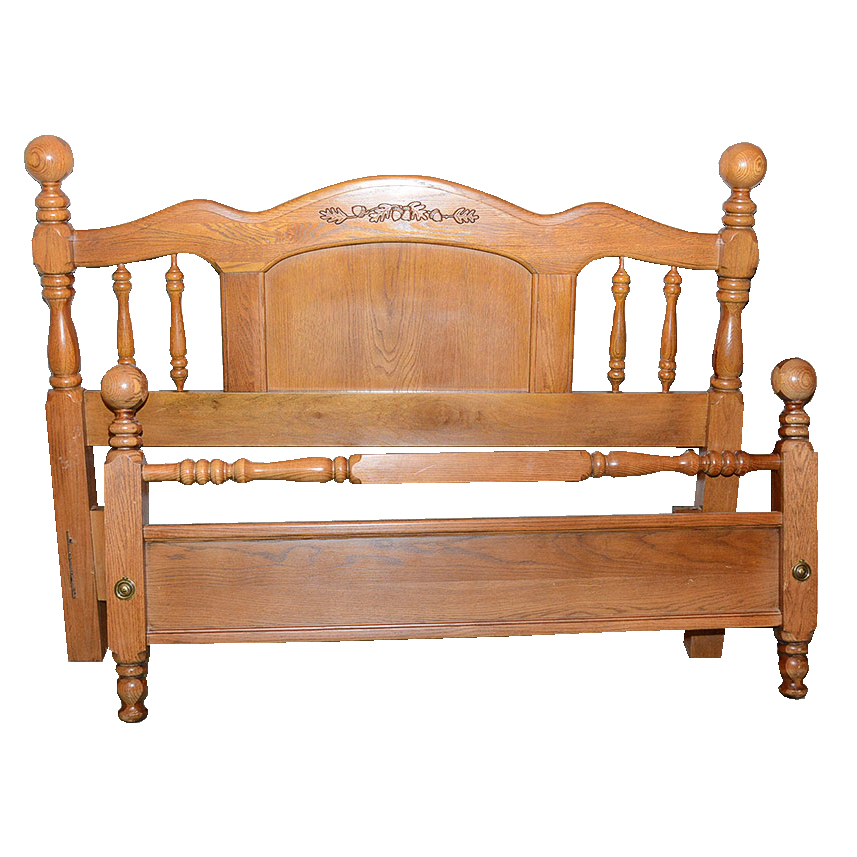 Broyhill Four Poster Queen Full Bed Ebth