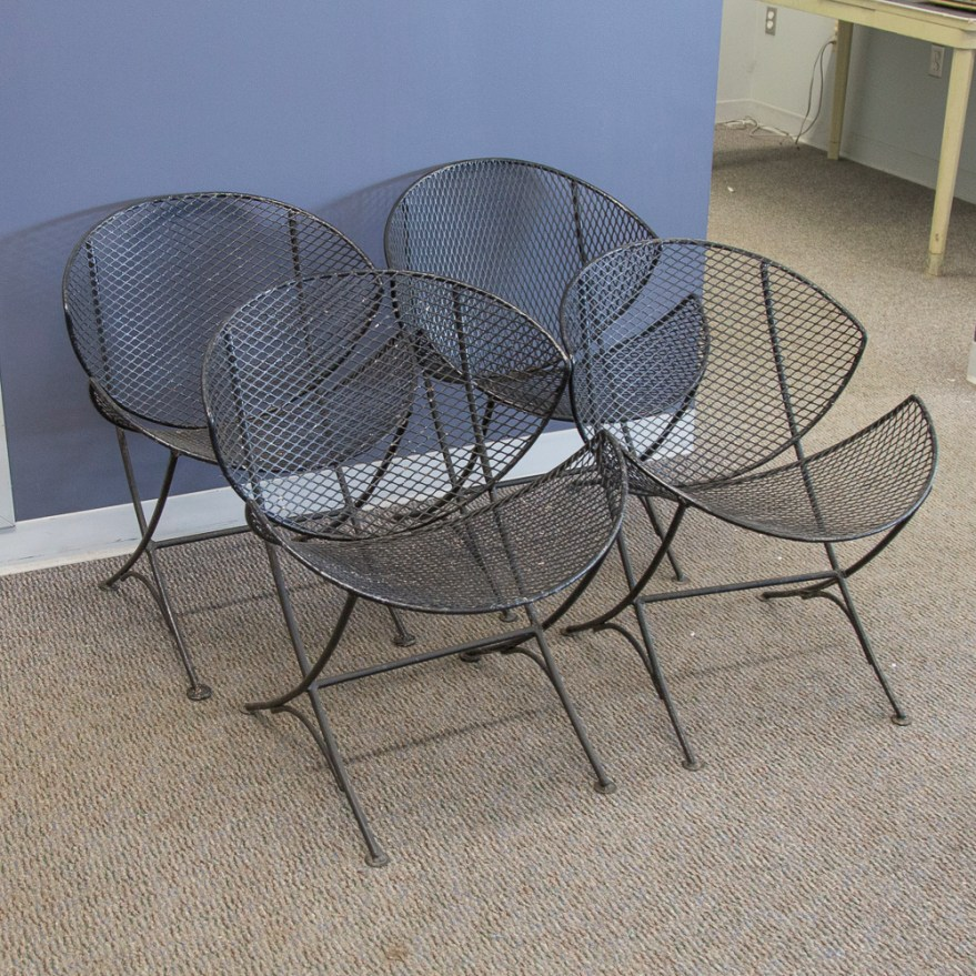 Mid-century Modern Salterini Orange Slice Chairs Ebth