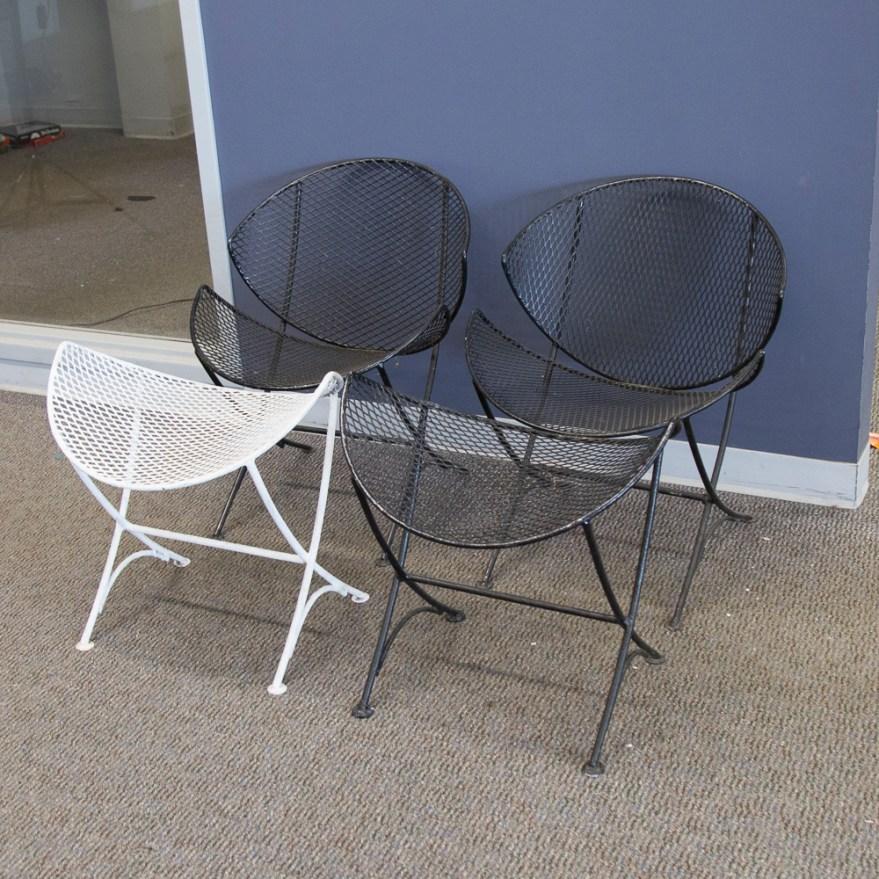 Mid-century Modern Salterini Orange Slice Patio Chairs And