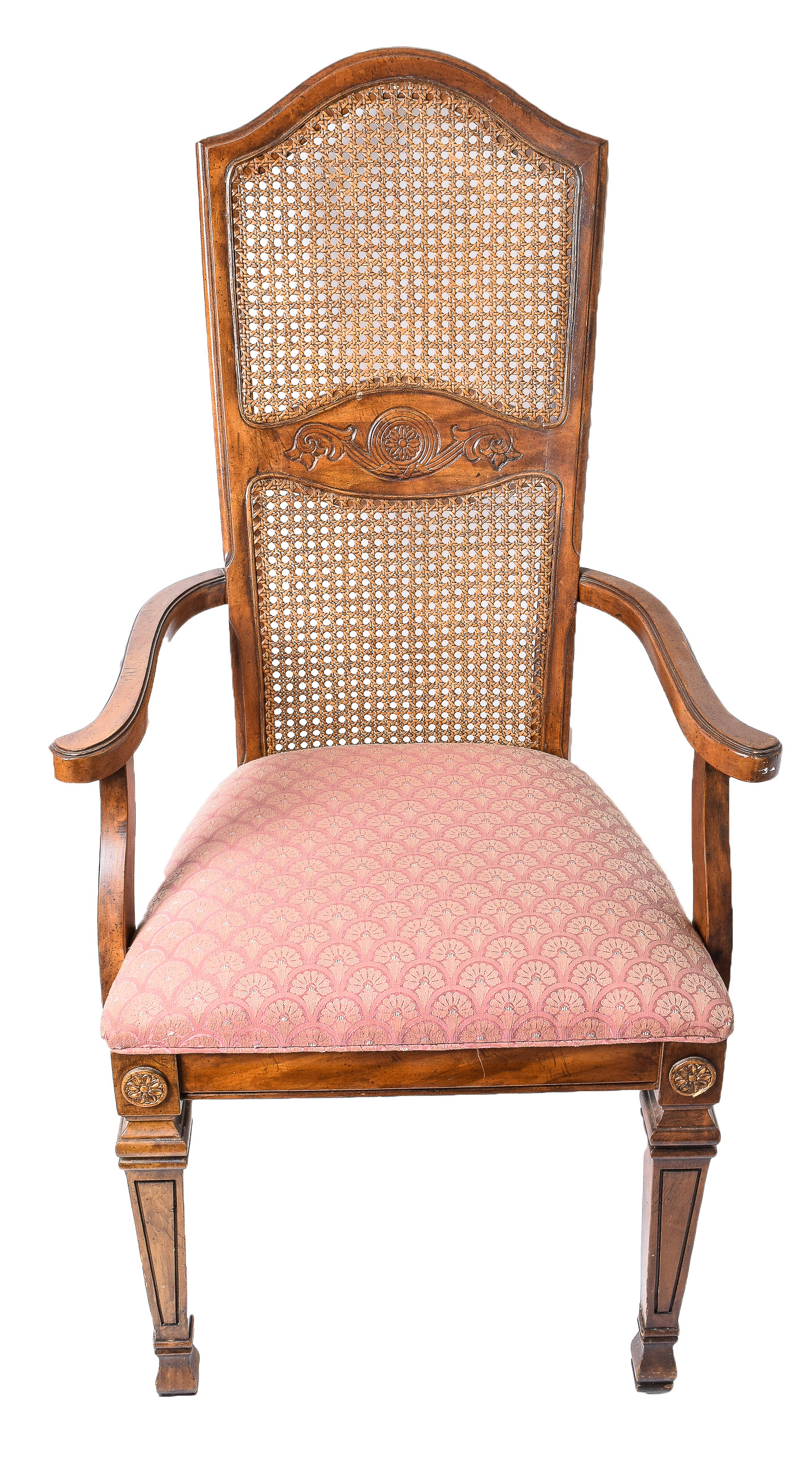 cane back chairs antique white executive office chair vintage french provincial style ebth