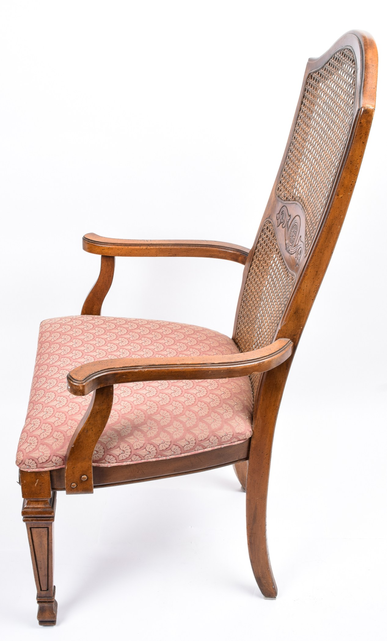 Vintage Cane Back Chairs Vintage French Provincial Style Cane Back Chairs Ebth