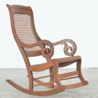 Antique Rocking Chair with Cane Seat and Back : EBTH