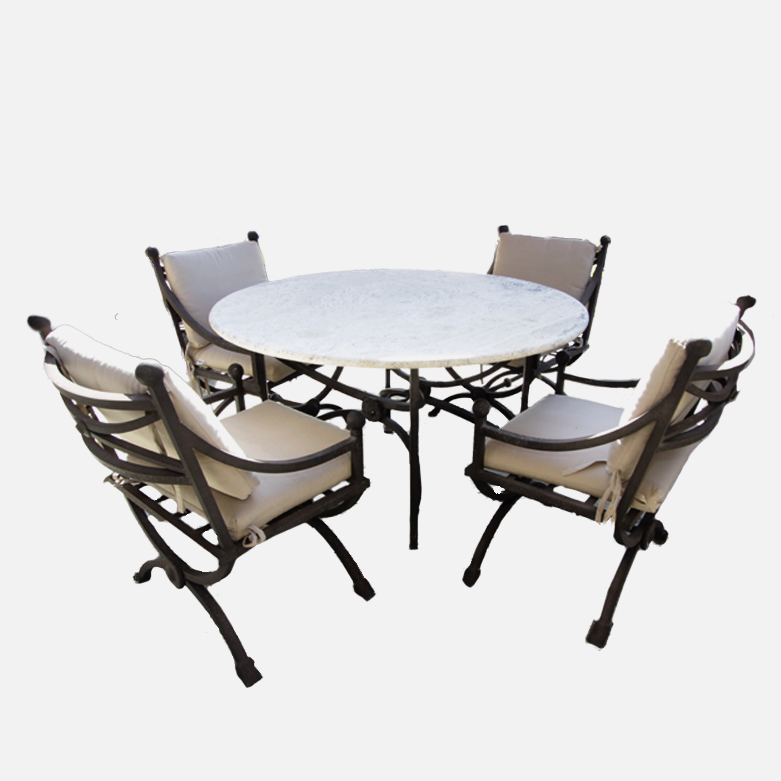 Kreiss Patio Table with Four Chairs  EBTH