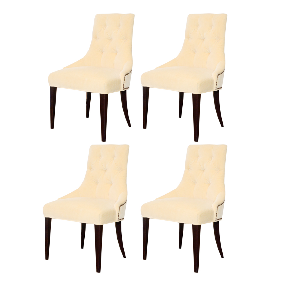 baker tufted dining chairs cushioned rocking chair thomas pheasant collection for upholstered set ebth
