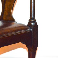 Vintage Queen Anne Style Corner Chair by The Henkel