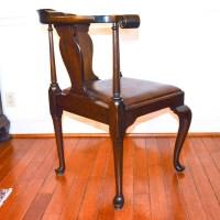 Vintage Queen Anne Style Corner Chair by The Henkel-Harris ...