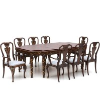 Baker Neoclassical Style Dining Table and Asian Inspired ...