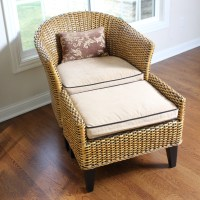 Wicker Chair and Ottoman by Pier 1 Imports : EBTH