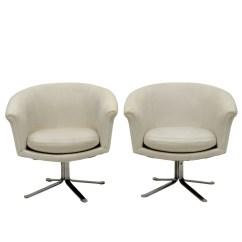 Swivel Pod Chair Cooper Co Beach Chairs White Vinyl By Scandiline Ebth