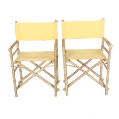 Bamboo Directors Chairs Folding Chair Giant Ebth