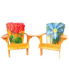 Paint For Adirondack Chairs Grey And White Chair Covers Hand Painted Ebth
