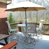 High Top Outdoor Suncoast Table and Chair Set with ...