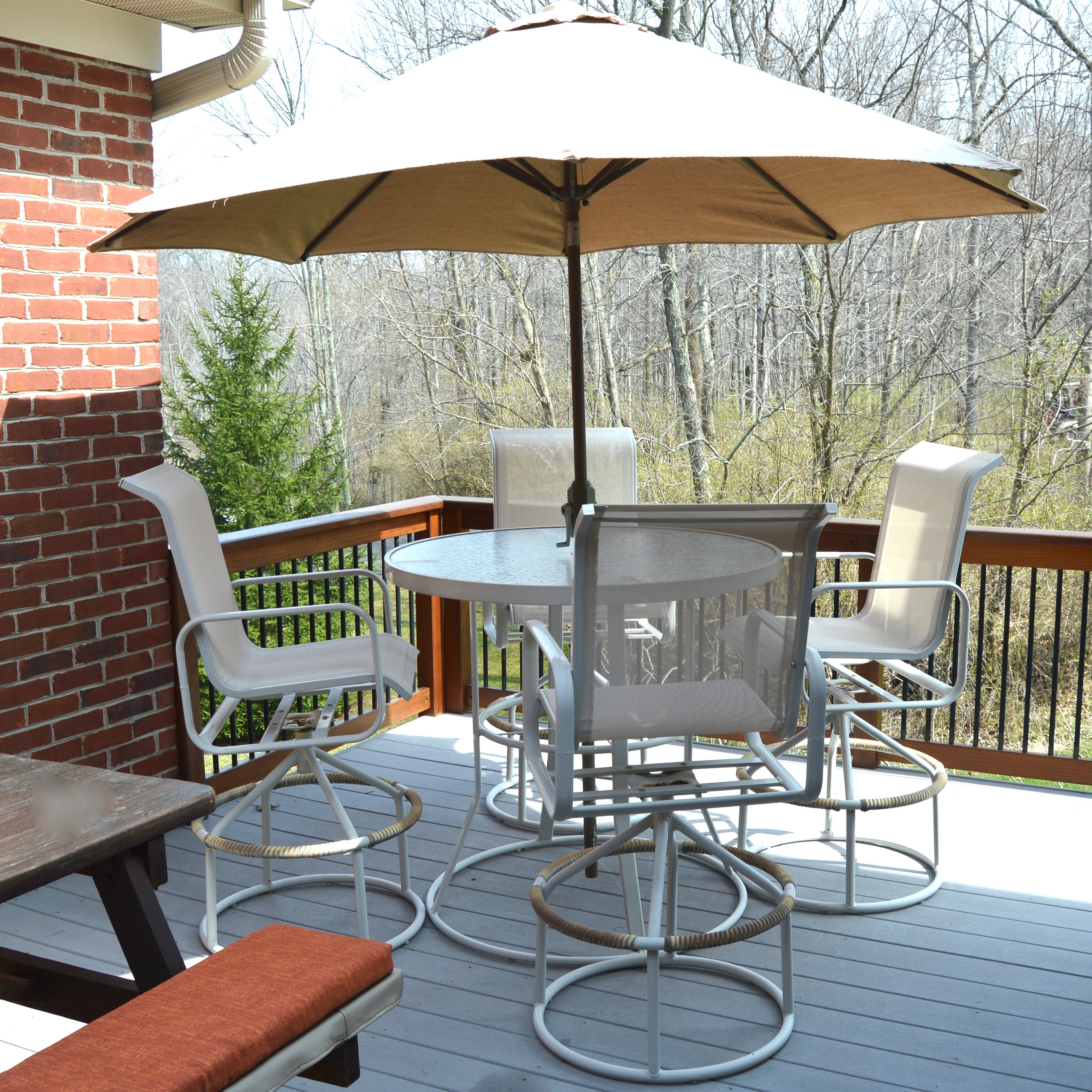 high top patio table and chairs ergonomic chair deals outdoor suncoast set with