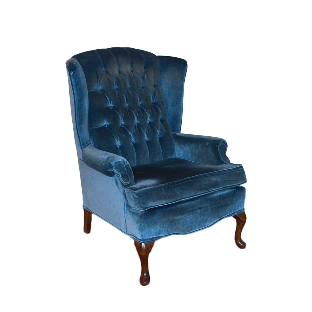 queen anne wing chair patio rocking chairs canada vintage style by best inc ebth
