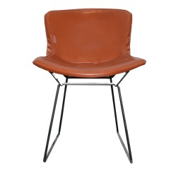 Leather Side Chair Tranquil Ease Lift 7051 3 Metal And By Harry Bertoia For Knoll Ebth