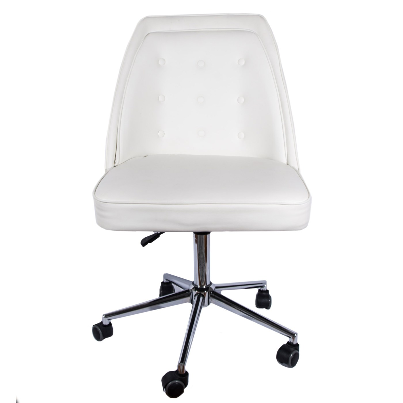 White Rolling Chair White Leather Rolling Desk Chair By Tainoki Ebth