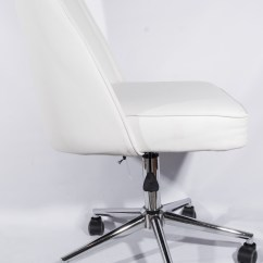 Rolling Desk Chair With Locking Wheels Inglesina High Recall White Leather By Tainoki Ebth
