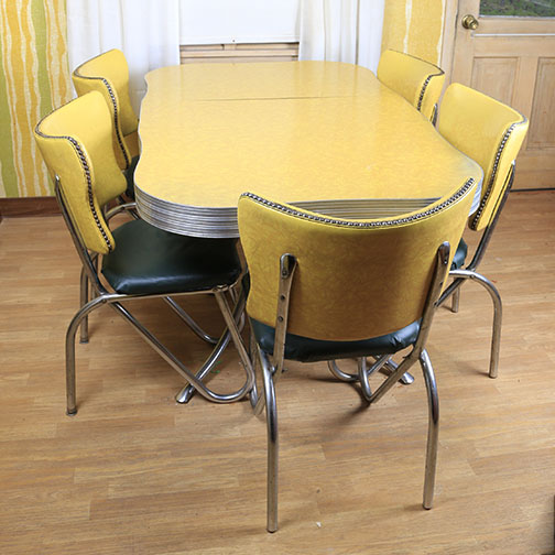 mid century modern kitchen chairs granite composite sink table and ebth