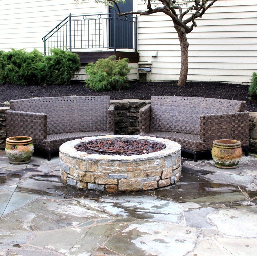 Frontgate Outdoor Sofas And Teracotta Planter Pots Ebth
