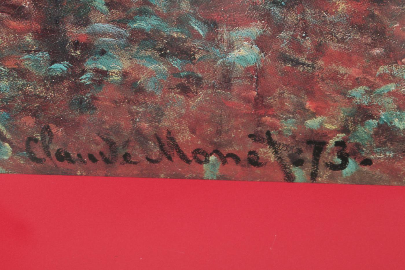 1995 Art Institute Of Chicago Claude Monet Exhibit Poster