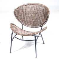 Mid Century Modern Rattan Wicker Chair : EBTH