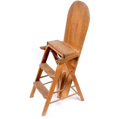 Chair Step Stool Ironing Board Best Multi Position Beach Vintage Wooden Ladder With Ebth