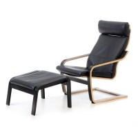 IKEA Poang Lounge Chair and Ottoman : EBTH