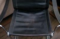 Mid Century Modern Leather and Chrome Armchair : EBTH