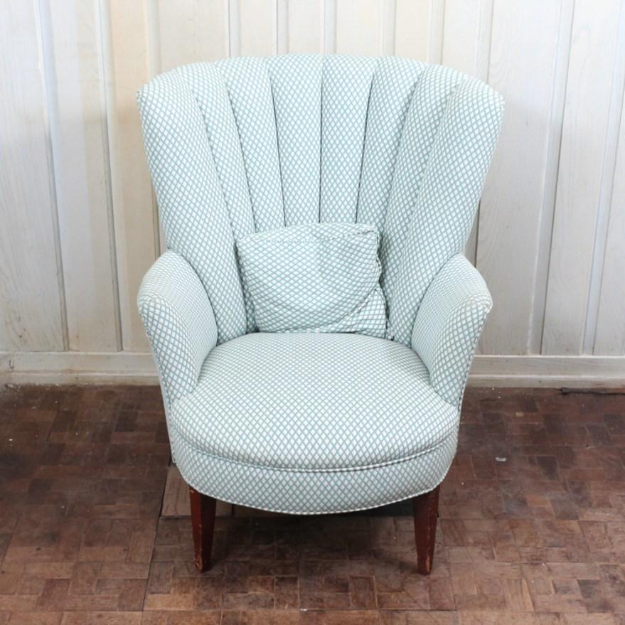 Upholstered Fan Back Chair  EBTH