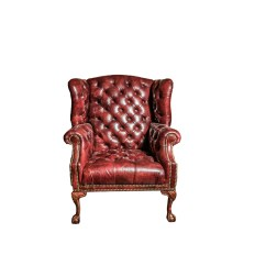 White Leather Wingback Chair Wedding Cover Hire Preston Tufted Ebth