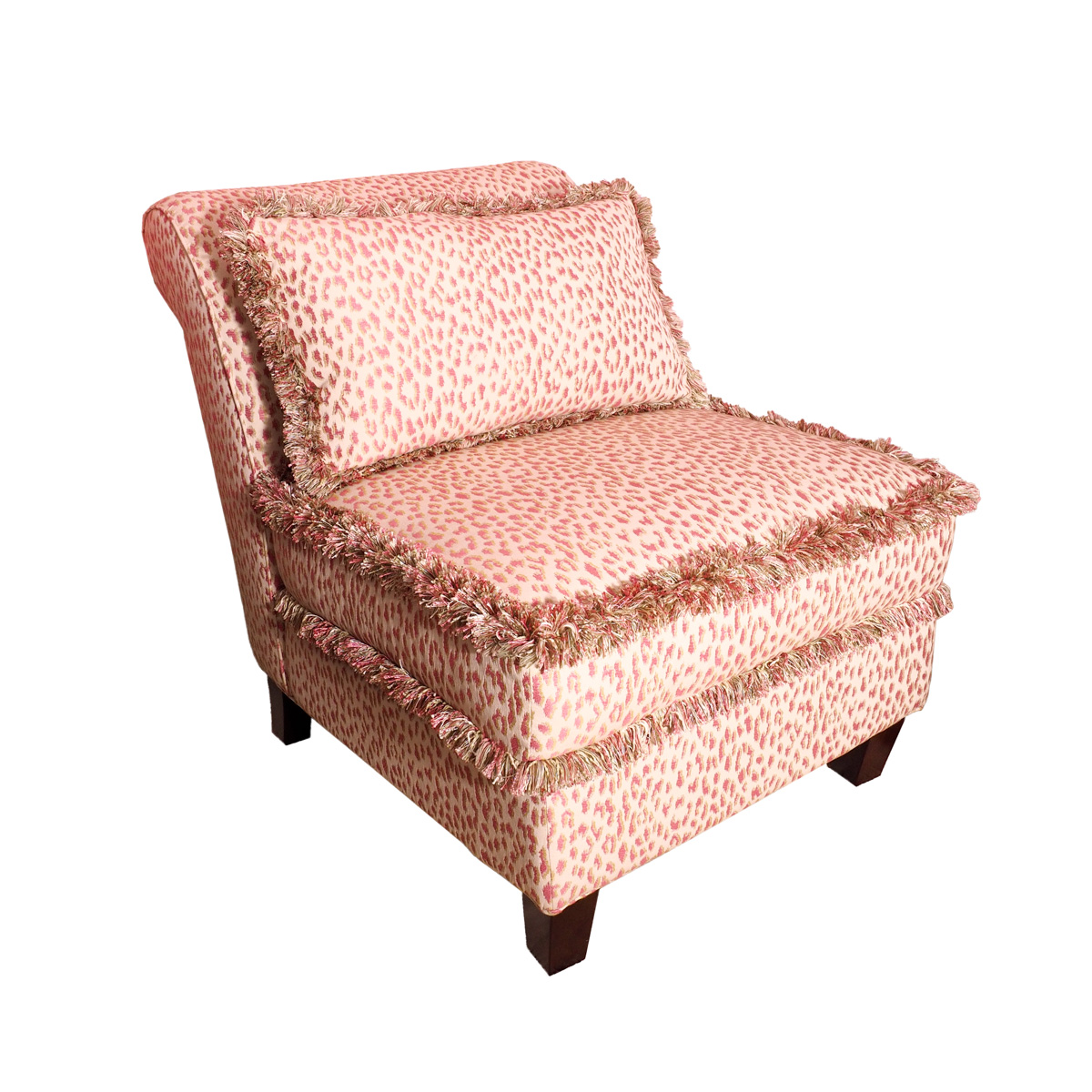 animal print accent chair slipcover for wing contemporary pink leopard ebth