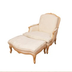 Leather Bergere Chair And Ottoman Upholstered Folding Chairs By Norwalk Ebth