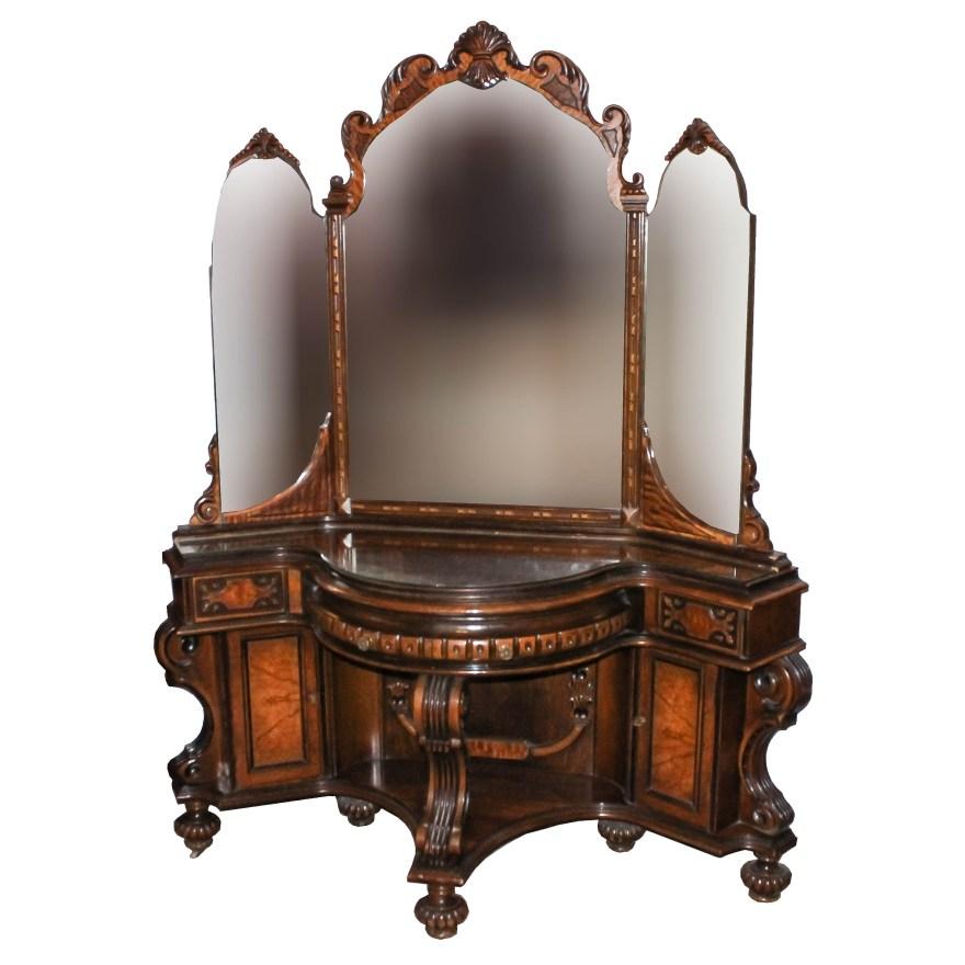 Antique Wood Vanity