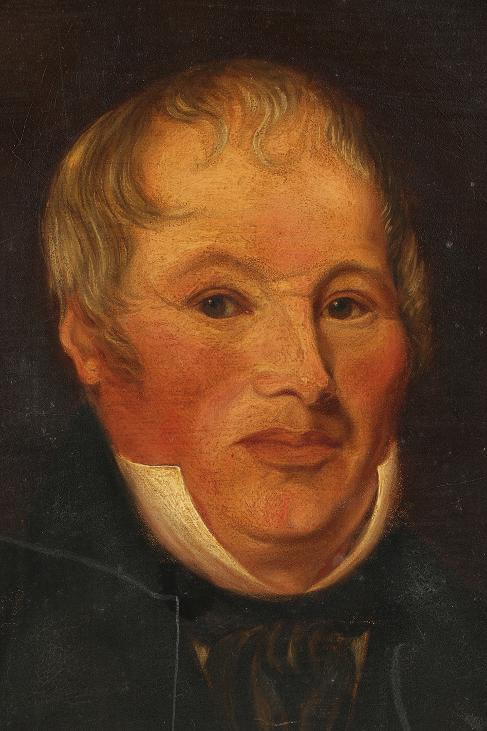 19th Century Oil Painting On Board Portrait Of A Man Ebth