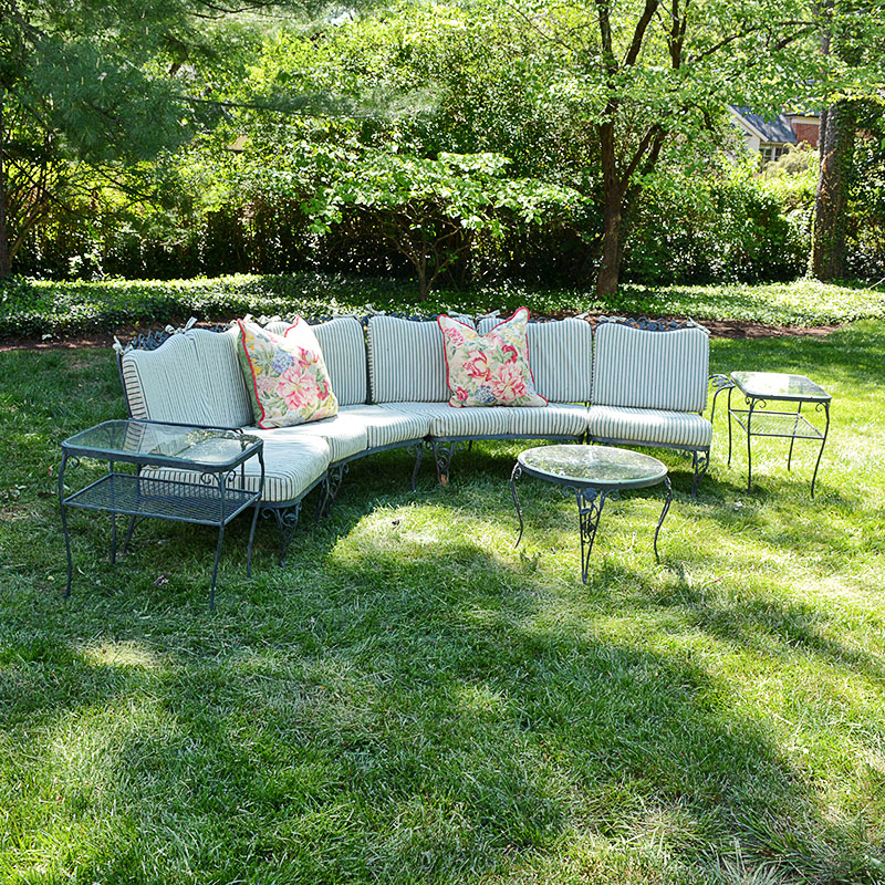 "Woodard ""chantilly Rose"" Patio Furniture With Brunschwig"