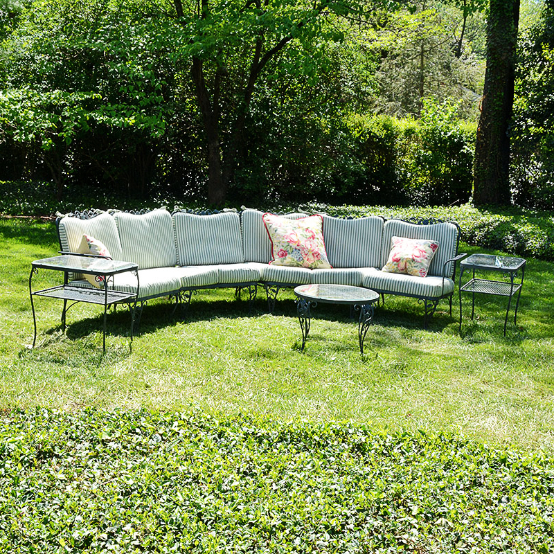 """Woodard """"chantilly Rose"""" Wrought Iron Patio Furniture With"""