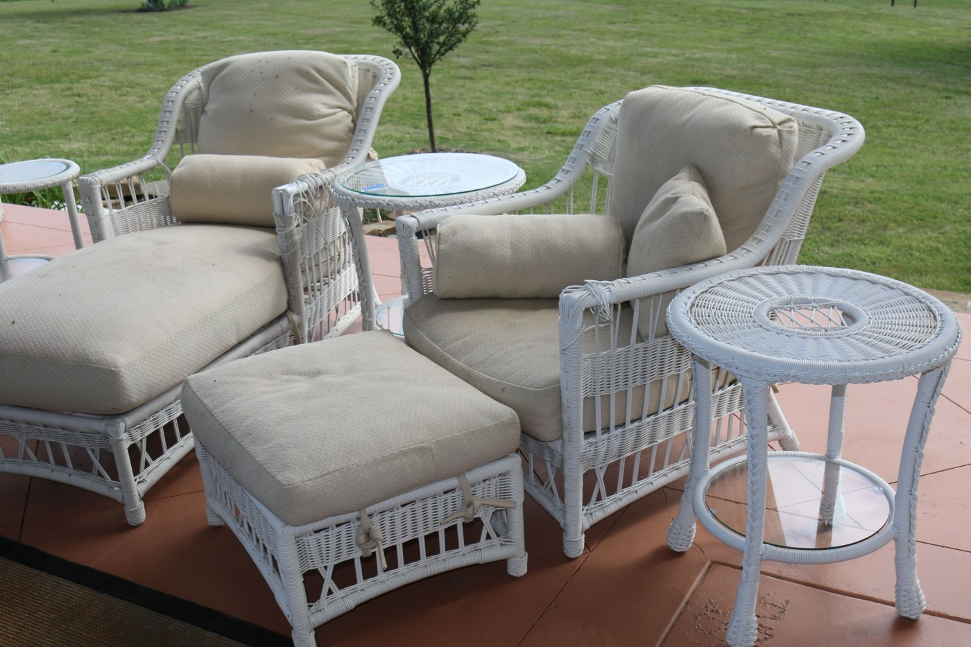 Faux-wicker Patio Furniture Ebth